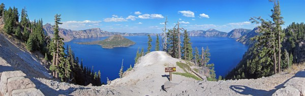 Crater Lake Pano by rustyheaps